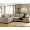 Signature Design by Ashley Alenya 3-Piece LAF Sofa Sectional in Quartz Microfiber [FSD-1669SEC-3LAFS-QTZ-GG]