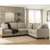 Signature Design by Ashley Alenya 3-Piece RAF Sofa Sectional in Quartz Microfiber [FSD-1669SEC-3RAFS-QTZ-GG]