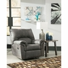 Signature Design by Ashley Bladen Rocker Recliner in Slate Faux Leather [FSD-1209REC-SLA-GG]