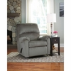 Signature Design by Ashley Bronwyn Swivel Glider Recliner in Alloy Fabric [FSD-1119REC-GLD-ALO-GG]