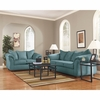 Signature Design by Ashley Darcy Living Room Set in Sky Microfiber [FSD-1109SET-SKY-GG]