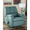 Signature Design by Ashley Darcy Rocker Recliner in Sky Microfiber [FSD-1109REC-SKY-GG]