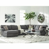 Signature Design by Ashley Jayceon 3-Piece RAF Sofa Sectional in Steel Fabric [FSD-6499SEC-3RAFS-STL-GG]