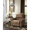 Signature Design by Ashley Larkinhurst Rocker Recliner in Earth Faux Leather [FSD-3199REC-ERT-GG]