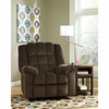 Signature Design by Ashley Ludden Power Rocker Recliner in Cocoa Twill [FSD-6199REC-P-COA-GG]