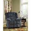 Signature Design by Ashley Ludden Rocker Recliner in Blue Twill [FSD-6199REC-BLU-GG]