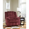Signature Design by Ashley Ludden Rocker Recliner in Burgundy Twill [FSD-6199REC-BRG-GG]