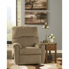 Signature Design by Ashley Pranit Wall Hugger Recliner in Cork Chenille [FSD-7869REC-HUG-CRK-GG]