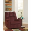 Signature Design by Ashley Raulo Rocker Recliner in Burgundy Fabric [FSD-6719REC-BRG-GG]