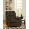 Signature Design by Ashley Raulo Rocker Recliner in Chocolate Fabric [FSD-6719REC-CHO-GG]