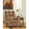 Signature Design by Ashley Raulo Rocker Recliner in Mocha Fabric [FSD-6719REC-MOC-GG]
