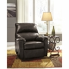 Signature Design by Ashley Talco Rocker Recliner in Gunmetal Faux Leather [FSD-5199REC-GUN-GG]