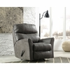 Signature Design by Ashley Tullos Rocker Recliner in Slate Faux Leather [FSD-8729REC-SLA-GG]