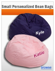 Small Personalized Bean Bags
