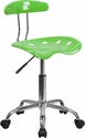 Vibrant Apple Green and Chrome Task Chair with Tractor Seat [LF-214-APPLEGREEN-GG]