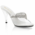4'' Heel Slide w/ Rhinestone Chain Ornament