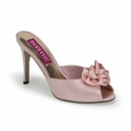 3 3/4'' Heel Peep Toe Slide w/ Rose Ornament