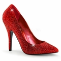 5'' Heel Rhinestone Covered Pointed Toe Pump