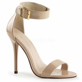 5'' Heel Closed Back Sandal w/ Buckled Ankle Strap