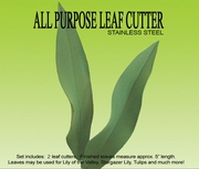 """ALL PURPOSE LEAF CUTTER SET </font color +""""red""""> NOW IN STAINLESS STEEL </FONT>"""