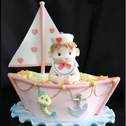 BABY BOY ON A BOAT CAKE TOPPER