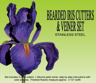 BEARDED IRIS GUMPASTE CUTTER SET