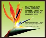 BIRDS OF PARADISE GUMPASTE CUTTER SET