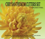 "CHRYSANTHEMUM GUMPASTE CUTTER SET <FONT COLOR =""BLACK""> OUT OF STOCK  </FONT>"