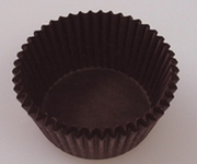 DARK BROWN MINI CUPCAKE LINER