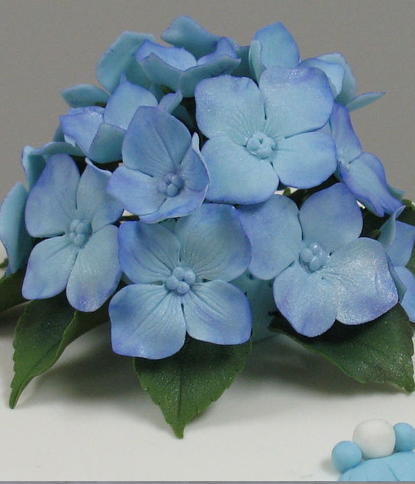 how to make hydrangeas out of fondant