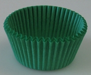 LEAF GREEN MINI CUPCAKE LINER