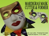 "MARDI GRAS MASK CUTTER & FORMER SET  <font color=""black""> OUT OF STOCK </FONT>"