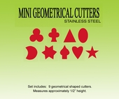 "MINI GEOMETRICAL SHAPPED CUTTERS  <font color= ""red""> NEW ITEM </font>"