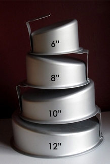 ROUND TOPSY TURVY CAKE PAN (SET OF 4)
