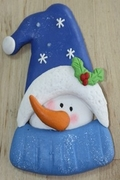 SNOWMAN WITH BLUE HAT MOLD