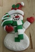 SNOWMAN WITH CHRISTMAS TREE MOLD