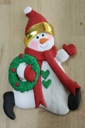 SNOWMAN WITH WREATH MOLD