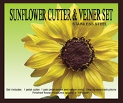 SUNFLOWER GUMPASTE CUTTER SET