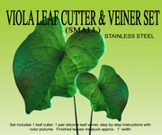 VIOLA LEAF (SMALL) GUMPSATE CUTTER SET