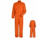 CC14OR Orange Cotton Coveralls, Concealed Snap Front