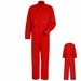 CC18RD Red Zip-Front Cotton Coveralls