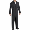 CT10BK Black Twill Action Back Coverall by REDKAP