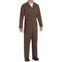 CT10BN Brown Twill Action Back Coverall by REDKAP