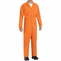 CT10OR Orange Twill  Action Back Coveralls by REDKAP