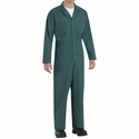 CT10SG Spruce Green Twill Action Back Coverall by REDKAP