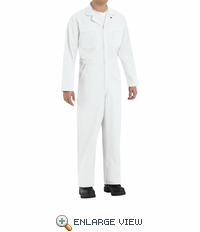 CT10WH White Twill Action Back Coverall by REDKAP
