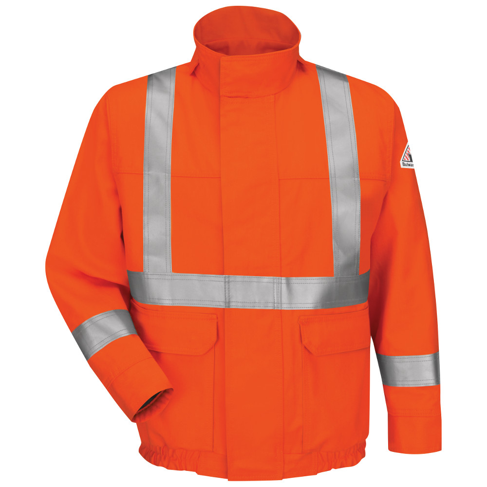 JLJSOR Lined Bomber Jacket with CSA Compliant Reflective Trim - EXCEL FR® ComforTouch®