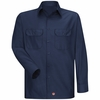 Men's Navy Solid Ripstop Work Shirt - Long Sleeve