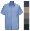 Men's Solid Ripstop Work Shirt - Short Sleeve