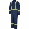 Navy Premium Coverall with CSA Compliant Reflective Trim - STOCKED IN CANADA